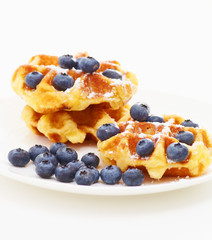 Waffle with blueberry d