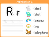 Fototapety Alphabet Tracing Worksheet: Writng A-Z