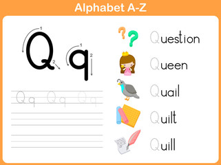 Alphabet Tracing Worksheet: Writng A-Z