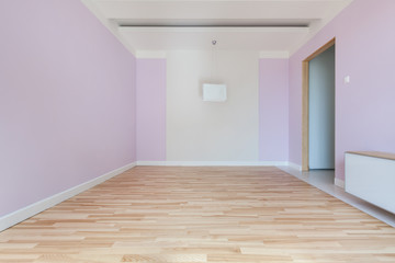 Interior of empty pink room