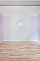 Empty room with pink walls