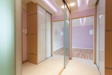 Anteroom with big mirror