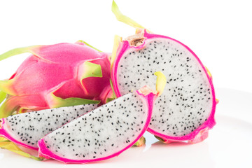 Dragon fruit isolated with clipping path
