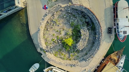 Mali Ston on Peljesac peninsula, aerial