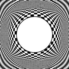 Op Art Abstract Pattern with Frame, illusion, hypnosis, stress