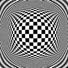Op Art Abstract Design Pattern illusion, hypnosis, stress strain