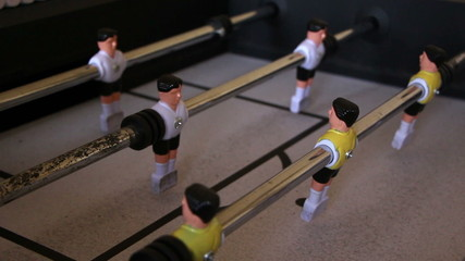 Kick off strike in table football game