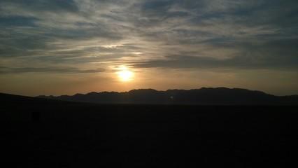 Sunset in Mongolia