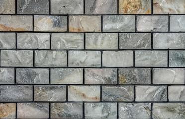 Natural marble stone brick wall for background and texture