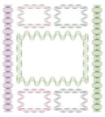 Set of guilloche frames.