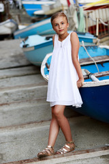 Portrait of lovely girl - Cinque Terre, Vernazza, Italy