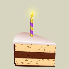 Festive piece of cake