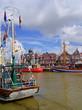 canvas print picture - Hafen von NEUHARLINGERSIEL ( Ostfriesland )