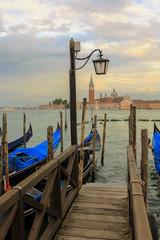 Venice, Italy - Gondolas and San Giorgio Maggiore