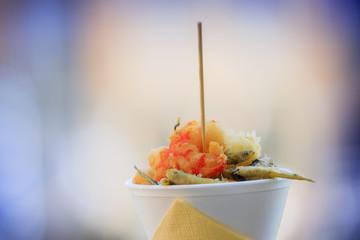 Pesce fritto, frutti di mare - food to go