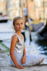 Portrait of fashion girl - Italy, Venice