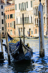 Venice, Italy - Gondola and historic tenements