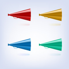 Megaphones set different colors