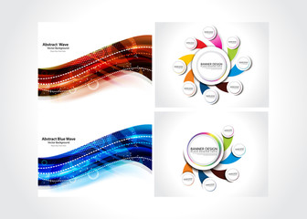 Abstract Background & Web Banner Set
