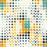 Naklejka Seamless geometric pattern of halftone dots in retro style.
