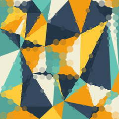 Abstract graphic background of polygon triangle shapes.