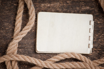 old paper and rope