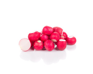 Bunch of red radish.