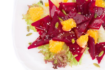 Close up of Beet Salad.