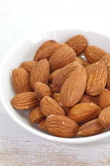 Close - up natural raw almond nut