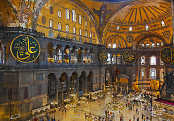 Hagia Sophia interior at Istanbul Turkey