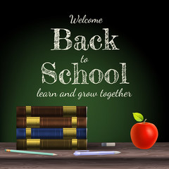Back to school, school books. EPS 10
