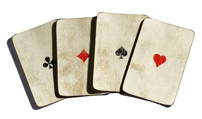Set of four vintages aces
