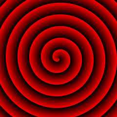 Red Hypnotic Background