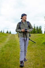 Caucasian hiker