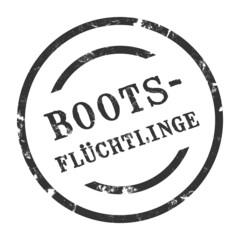 sk63 - StempelGrafik Rund - Bootsflüchtlinge - g1483