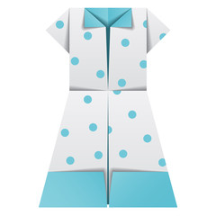 vector origami paper ladies summer garments
