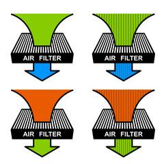 vector air filter symbols