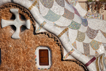 Casa del Guarda Details in Park Guell
