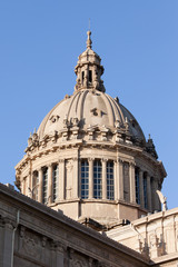 Dome of the National Art Museum of Catalonia in Barcelona