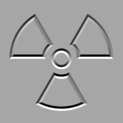 vector stone carved radiation symbol