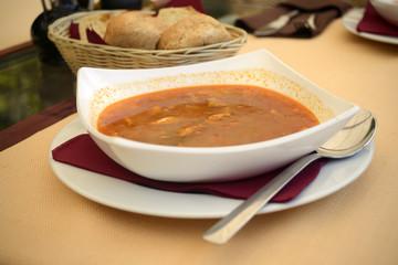 Fish soup Ciorbă Montenegro