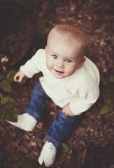 Little boy in forest