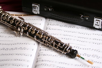 Oboe und Noten