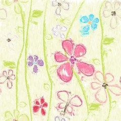 painted floral background