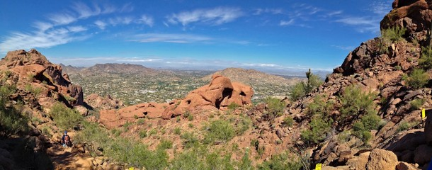 City View of Phoenix from Camelback Mountain in Arizona, USA