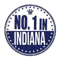 Number one in Indiana stamp