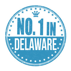 Number one in Delaware stamp