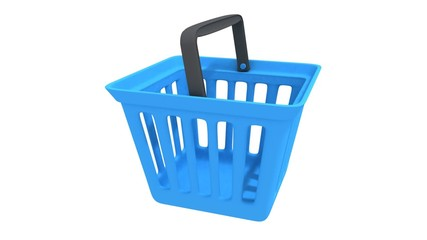 Shopping basket rotate animation.