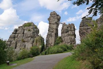 Die Externsteine in Ostwestfalen