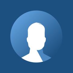 Blue profile icon